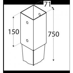 KOŁEK ROZPOROWY DO SZYBKIEGO MONTAŻU 10x120